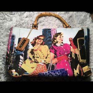 Bueno Shoulder Bag Bamboo Handle Vintage Image